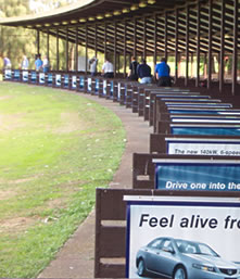 A Photo of the driving range at Wembley Golf Complex