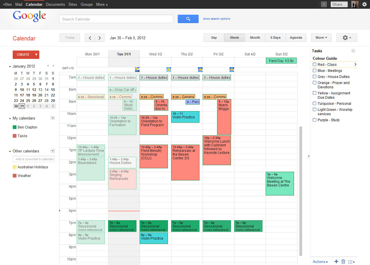 Calendar Google : Brighten and organise your google calendar let