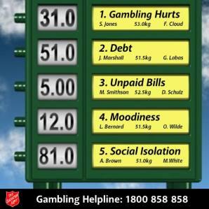 Gambling Hurts. (Photo credit: The Salvation Army)
