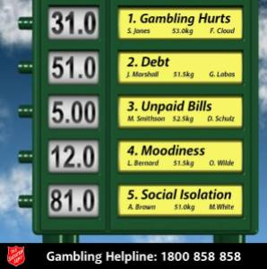 Gambling Hurts. (Photo credit: The Salvation Army)