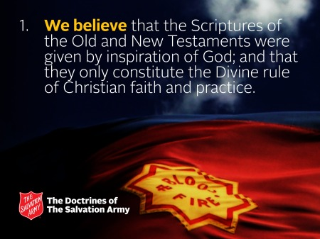 Doctrine 1 of The Salvation Army (Source: sarmy.org)