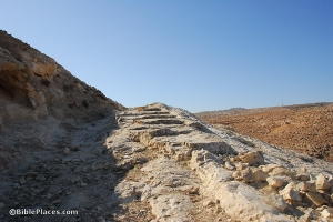 A Roman road from Jericho to Jerusalem
