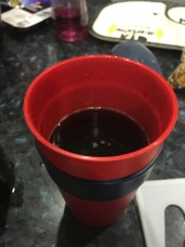 Black Coffee in a Red Keep Cup