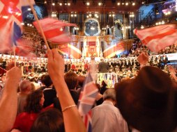 Flags waving at the Last Night of the Proms